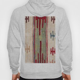 Arcade Star Kilim // 17th Century Colorful Muted Lime Green Southwest Cowboy Ornate Accent Pattern Hoody