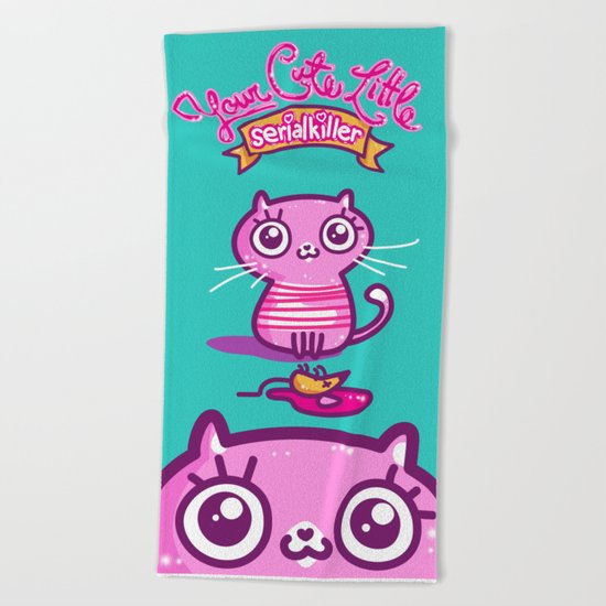 Your Cute Little Cat Beach Towel
