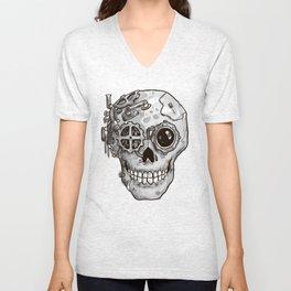 Steampunk Skull Unisex V-Neck