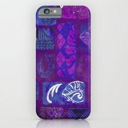 Hawaiian Tapa Collage iPhone Case
