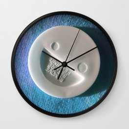Baby Smile Blue Wall Clock