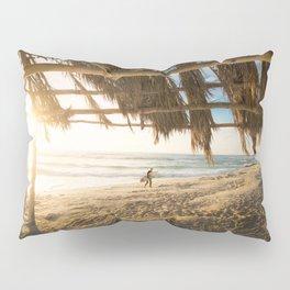 Golden Sun Srufer Guy (Color) Pillow Sham