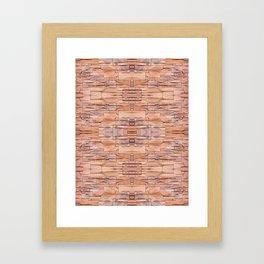 Slate tiles brown purple rock abstract Framed Art Print