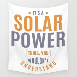 Solar Power Thing Wall Tapestry