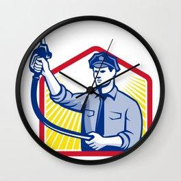 Gas Jockey Gasoline Attendant Fuel Pump Nozzle Wall Clock