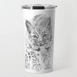On the Prowl :: A Young Bobcat Travel Mug