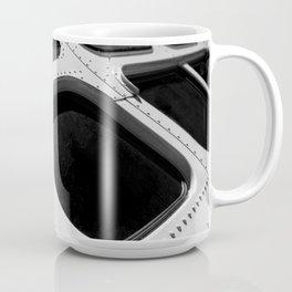 VINTAGE - Cool Vintage Passenger Bus - Monochrome Coffee Mug