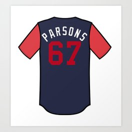 Wes Parsons Players' Weekend Jersey Art Print