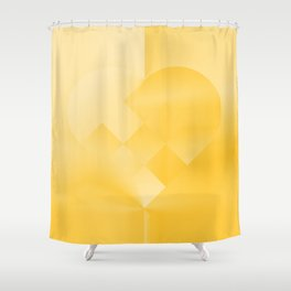 Danish Heart Gold #181 Happy Holidays! Shower Curtain