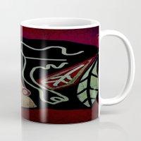 blackhawks Mugs featuring Blackhawks by Jide