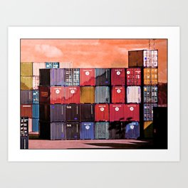 Colorful containers I Art Print