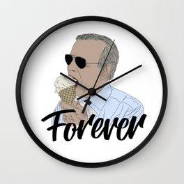 Joe Biden Eating Ice Cream Forever. Wall Clock