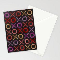 XOXO pattern - dark Stationery Cards