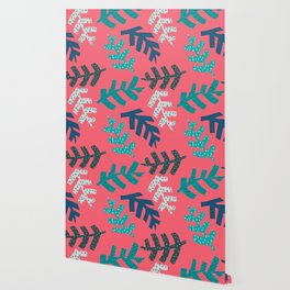 Tropical Leaf Print Wallpaper