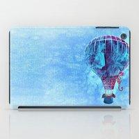 hot air balloon iPad Cases featuring Hot Air Balloon Love by Berberism