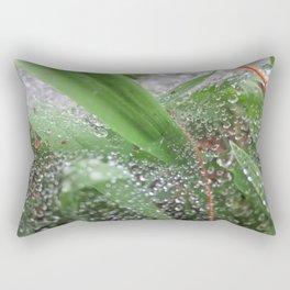 Wet Grass Rectangular Pillow