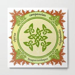 Circle of the Enlightened - Ivy Metal Print