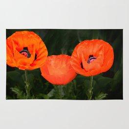 Oriental poppies Rug
