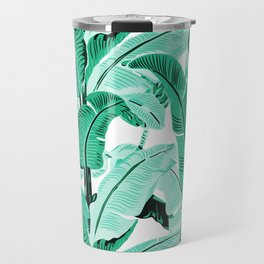 jungle leaf pattern mint Travel Mug