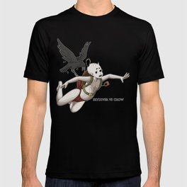 skydiver vs crow T-shirt