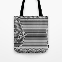 Black and White Landscape Tote Bag