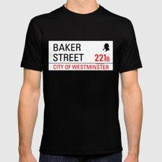 221B Baker Street Mens Fitted Tee MEDIUM Black