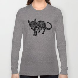 Rain Gutter Teasing, Rusty Cat Sneezing Long Sleeve T-shirt