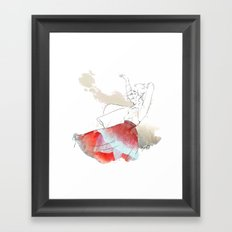 Dancing in the poppies Framed Art Print