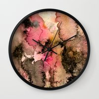 funky Wall Clocks featuring Funky by Emily Kenney