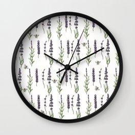 Lavender & bees Wall Clock