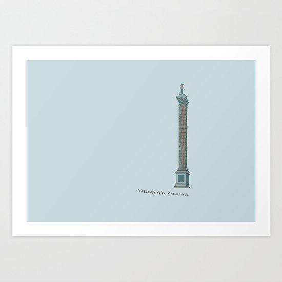 Nelson's Column Art Print