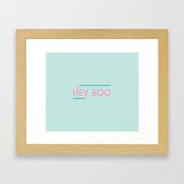 hey boo Framed Art Print