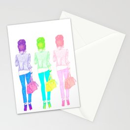 TOP NOTCH TOP KNOT   original fashion illustration Stationery Cards