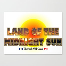Land Of The Midnight Sun Canvas Print