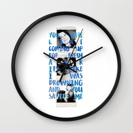 You Saved Me Wall Clock