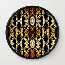 Elegant Oriental Pattern Black Gold Wall Clock