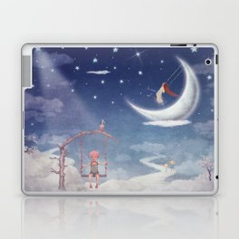 City of children on  fantastic clouds in the sky Laptop & iPad Skin