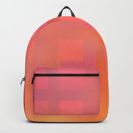 Soft Coral and Gold Plaid Backpack