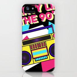 90s Theme Party Retro Ghetto Blaster Legend iPhone Case