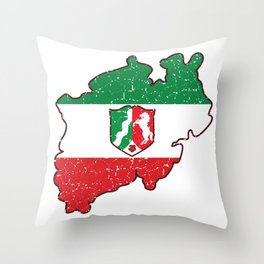 North Rhine-Westphalia coat of arms flag gift Throw Pillow