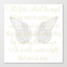 The First Noel angel wings Canvas Print