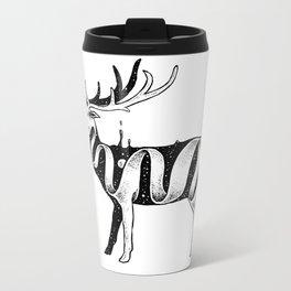 Lost in Its Own Existence (Deer) Metal Travel Mug