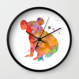 Colorful Koala Wall Clock