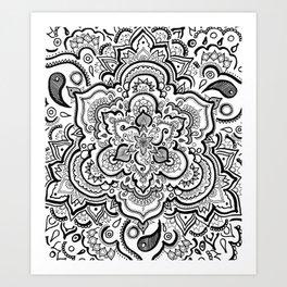 BLACK & WHITE 2 Art Print