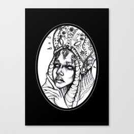 Monster Black and White Canvas Print