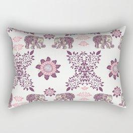 Boho Pink Elephants Rectangular Pillow