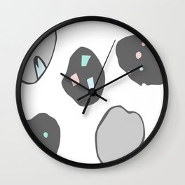 space rocks Wall Clock