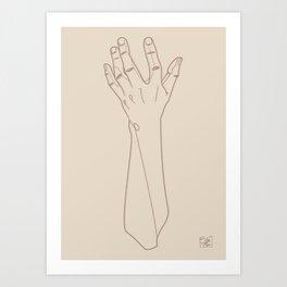 Hand Study n2 Art Print