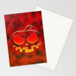 Screaming Pumpkin Stationery Cards