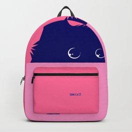 Blue Cat on Deep Pink Backpack
